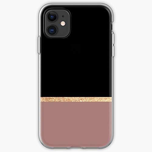 Black Rosegold Gold Dark Copper Foil Ebony Jet Marble Rose Phone Case For All iPhone, iPhone 11, iPhone XR, iPhone 7 Plus/8 Plus, Huawei, Samsung Galaxy Illustration Stars Digital Rabbit Cut