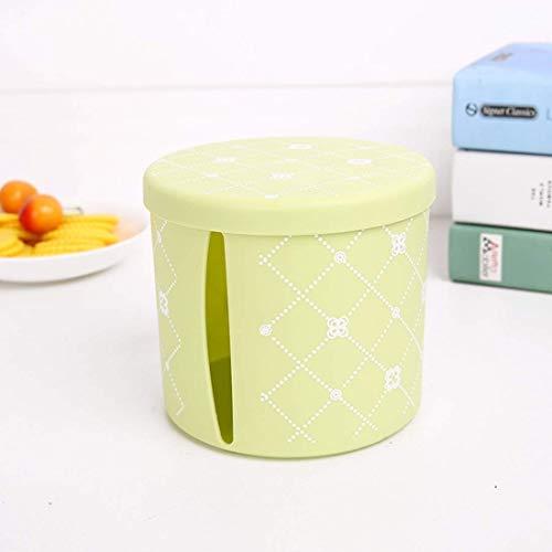 Zhijh Taschentuchbox Tissue Box Plastikbehälter Sidepull Tissue Box Papierschlauch, Blau (Color : Green)