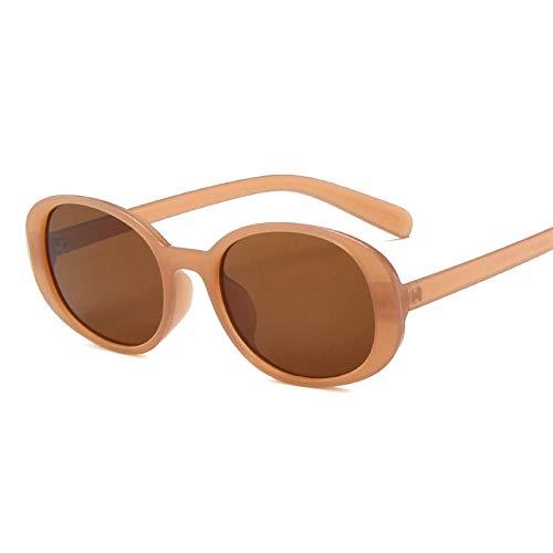 DLSM Gafas de Sol Oval Vintage Gafas de Sol Mujer Gafas de Sol Mujeres Retro Gafas de Sol para Hombres Adecuado para Caminatas Gafas de Sol Golf-Champagnetea