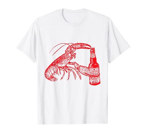 Der Original Bier trinken Hummer Funny Craft Bier T-Shirt