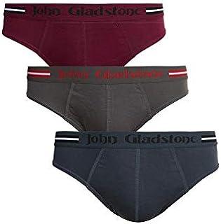 John Gladstone Men's Cotton Outer Elastic Brief - 3 Pack