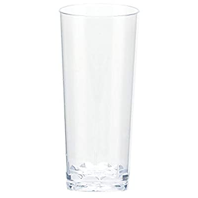 Amscan Mini Plastic Cordial Glasses, 2 oz, Clear