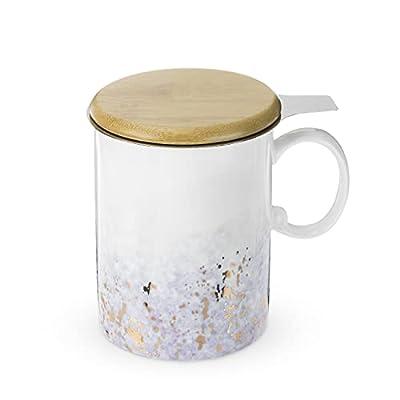 Pinky Up Bennett Purple Ceramic Tea Mug & Infuser Mug