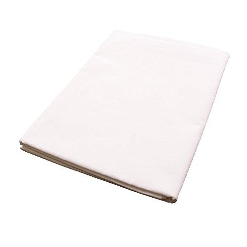 Hans-Textil-Shop Massagelaken 100x200 cm Weiß 100prozent Baumwolle (Kochfest, Trocknergeeignet, Leicht zu pflegen, Schadstoffgeprüfter Stoff)