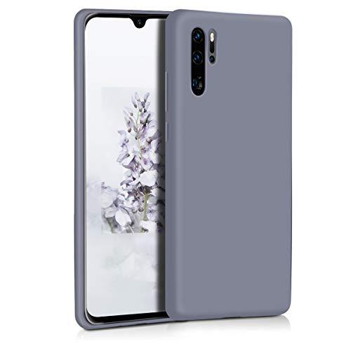 SURPHY Funda Compatible con Huawei P30 Pro Silicona Case, Carcasa Huawei P30 Pro Case, Fundas Silicona Líquida Protección con Forro de Microfibra para Huawei P30 Pro 6.47 Pulgadas, Gris Lavanda