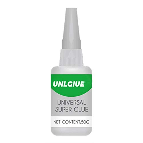 Universal Super Glue, Waterproof Strong Plastic Glue for Resin Ceramic Metal Glass Clear Glue Without Strong Odor, Pin-Point Nozzle 50ml (1)