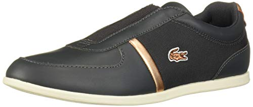 Lacoste Women's Rey Shoe, Dark Grey/Cop, 5.5 Medium US