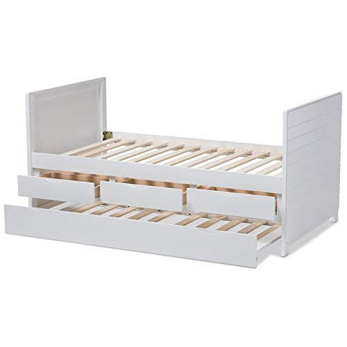 A daybed with trundle and storage is one of the best beds for small spaces