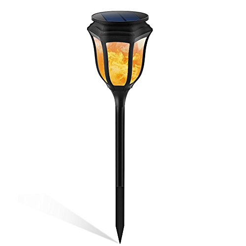Luces Solares Al Aire Libre Decorativo Paisaje Jardín Antorcha Luz Impermeable 96 LED Llamas Parpadeantes Proyectores Con Sensor Movimiento Para Corredor Tierra Carril Camino Pasarela