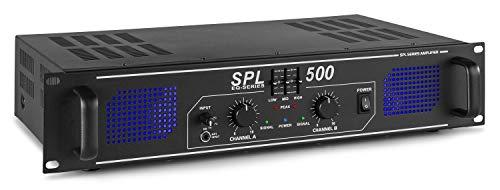 Skytec SPL 500 - Amplificador de audio (2.0, 0,5%, 95 Db, Binding...