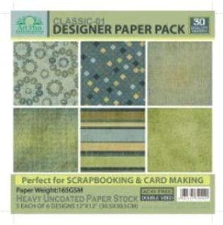 ART PLUS Pack Papel Scrapbooking 30 Hojas (5 x 6 Modelos) 160g Doble Cara 30,5x30,5cm (Classic 1): Amazon.es: Juguetes y juegos