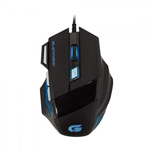Mouse Gamer Black Hawk Optico Usb 2400 Dpi Om703 Fortrek