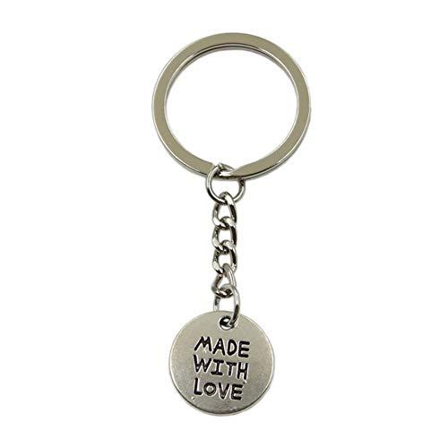 N/ A Art Und Weisemannauto Keychain DIY Metallhalterkette Silberne Bronzeplatten Gebildet Mit Liebeanhänger Für Geschenk