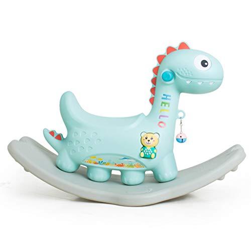 Cheval à Bascule Trojan Jouet bébé épaississement Chaise à Bascule en Plastique 1-2 Ans Cadeau à Quatre Pattes