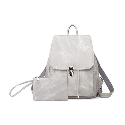 NICOLE & DORIS Rucksack für Damen wasserdichte Schulrucksack Leichtgewicht Umhängetasche Anti Diebstahl Daypack Rosa