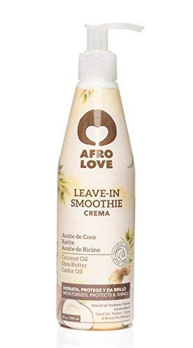 Afro Love Leave In Smoothie 290ml - Après-Shampooing Sans Rinçage Sans Silicone Sans Paraben Leave in Conditioner