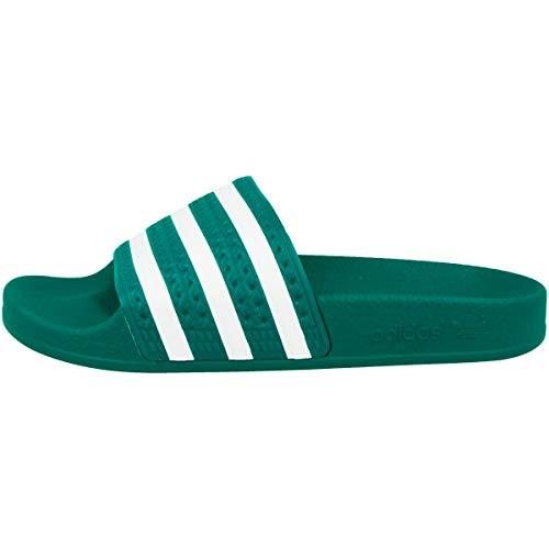 Adidas Adilette, Chanclas Unisex adulto, Verde (Gloria Verde / Calzado Blanco / Gloria Verde), 39 EU
