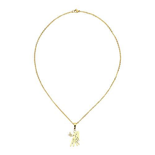 LAAT Collar con Colgantes de 12 Constelaciones Mujer Navidad Regalo de Color de Oro Size Oro (Virgo)