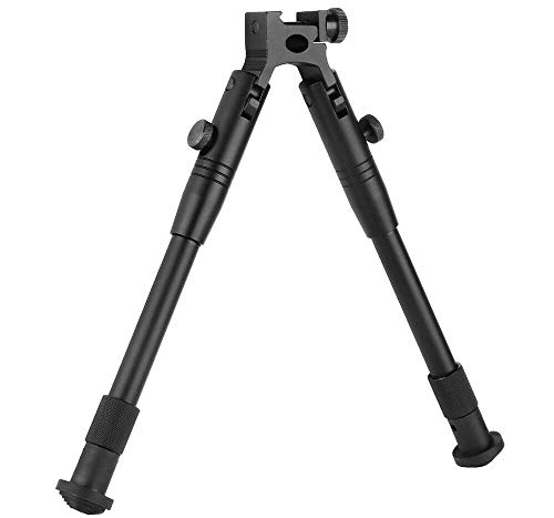 "TRIROCK 8""-10"" Picatinny/Weaver Style Bipod Foldable extendable Adjustable Shooting Stand fits 20mm Rails"