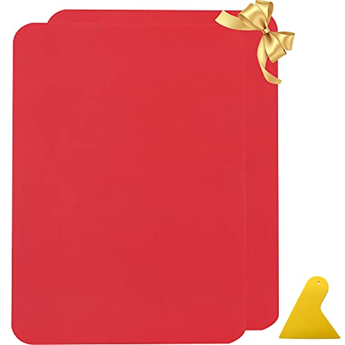 Panngu Rot Leder Patch Kit Selbstklebende Lederflicken, Premium Selbstklebender Leder Reparatur Patch für Sofas Autositze Löcher Risse Verbrennungen Flecken Rucksack (2er 28x20cm)