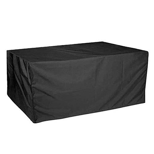 Autopeck Garden Furniture Set Covers Housse imperméable pour Meubles de Jardin - Rectangulaire - en Tissu Oxford - Résistante au Vent - Noir, 121.2 * 54.3 * 38.5 inch
