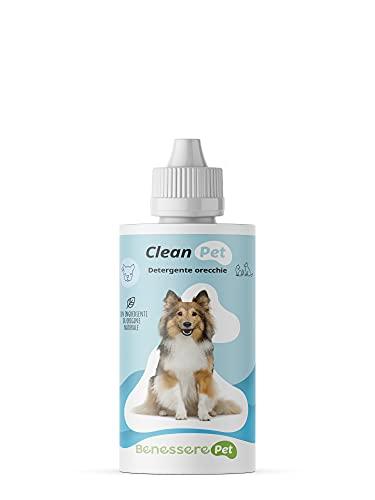 DYNAMOPET BenesserePet Clean Detergente para la Limpieza de oídos de Perros y Gatos 100 ml, Gotas para los oídos, Propiedades calmantes, emolientes y reepitelizantes, Pieles sensibles