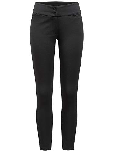 super.natural Bequeme Damen Jogginghose, Mit Merinowolle, W FITTED PANTS, Größe: XL, Farbe: Schwarz