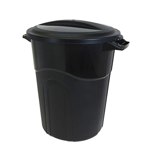 United Solutions TI0040 Trash Can, 20 Gal - 1 Pack, Black