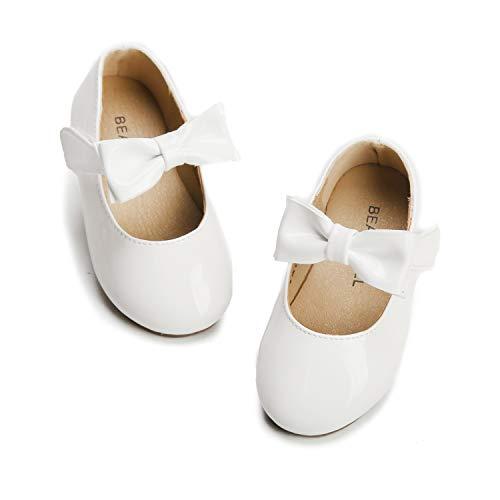 Felix & Flora Girls Dress Shoes - Mary Jane Ballet Flats Party Wedding School Size 6 Toddlers