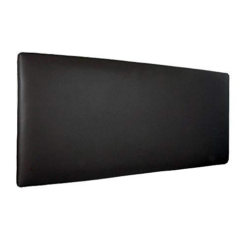 Silcar Home - Cabecero de Cama Tapizado en Polipiel Liso, Modelo Jep (Negro, 90 cm) | Cabecero Acolchado | Cabezal Tapizado | TNT Transpirable | Cabecero Original | Transporte Incluido