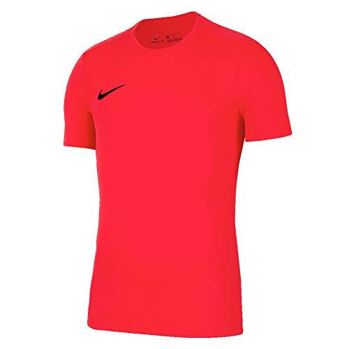 NIKE M Nk Dry Park VII JSY SS Camiseta de Manga Corta, Hombre, Rojo (Bright Crimson/Black), L