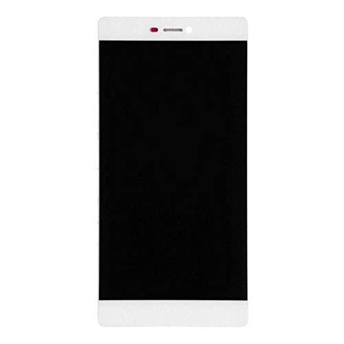 ELECTRONICS MobilePhone REPLACEMENT PART ZY for Huawei P8 LCD-scherm en Digitizer Volledige Vergadering met Frame (zwart) (Color : White)