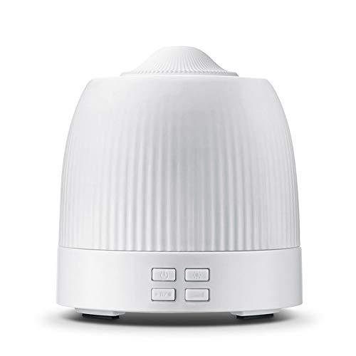 JL-Q Simple Aromaterapia Máquina Madera Grano Base Ultrasónico Atomización Humidificación Fragancia Lámpara/USB Reproducir Música Aromaterapia Máquina,White