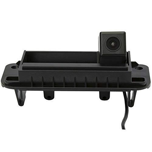 Rückfahrkamera wasserdicht Nachtsicht Auto Rückansicht Kamera Einparkhilfe Rückfahrsystem, Kennzeichenleuchte (Schwarz) für MB C Class W204 C230 C260 C200 C180 2011-2013