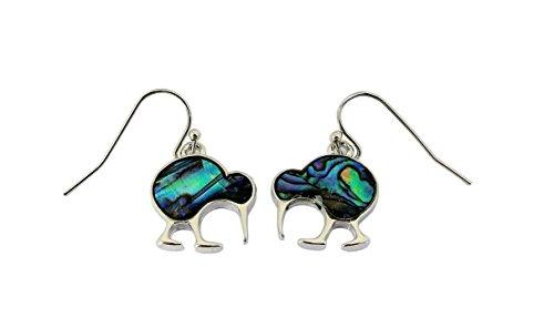 Paua/Abalone schelp kiwi vogel oorstekers oorbellen uit Nieuw-Zeeland
