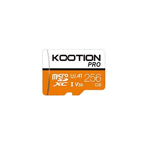 KOOTION 256GB Tarjeta de Memoria UHS-I Micro SD(U3 V30 A1) Tarjeta SD Micro SDXC 256 Giga Memory Card Micro SD Card 256G para Móvil,Cámara Deportiva,Gopro, Alta Velocidad de Lectura hasta 100 MB/s
