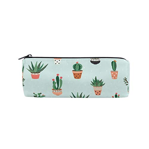 MOYYO Zipper Pen Pencil Case Organizer Cute Cactus Succulents Student Stationery Pencil Pouch Bag Pencil Box for School Office Kids Student Teen Girls Boys Adults Gift