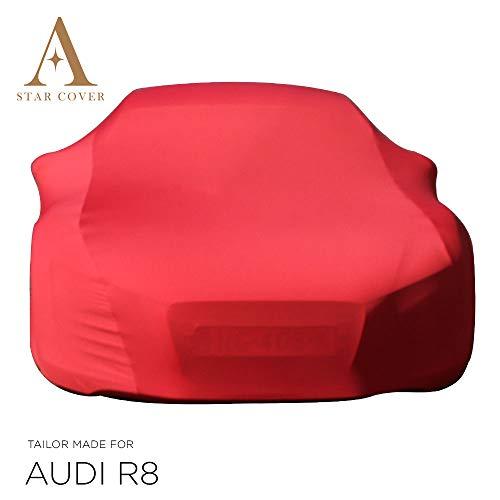 Star Cover Funda DE Coche para EL Interior A Medida Audi R8 Coupe | Rojo Cubierta DE Coche Interior | Lona Garaje para Auto | Funda DESCAPOTABLE, Coche CLÁSICO, Coche Deportivo | Entrega RÁPIDA