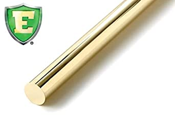 Round ASTM B371 ECO C693 Solid Lead Free Brass Rod American Made 9//16 x 1