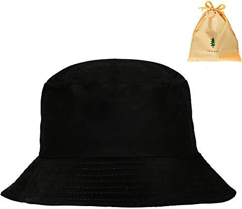 Sombrero Pescador, Aire Libre Sombrero Tela de algodón y Poliéster Unisex Aire Libre Sombrero de ala Ancha Borde Redondo 56-58cm Sombrero para el sol para Excursionismo Cámping De Viaje Pescar