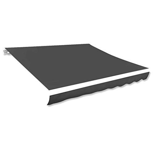 vidaXL Markisenstoff Anthrazit 600x300 cm Markisentuch Sonnendach Sonnenschutz