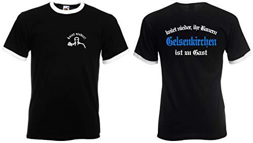 world-of-shirt / Gelsenkirchen Herren Retro kniet nieder Ihr Bauern