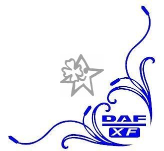 2x DAF XF No64 Tribal Seitenscheibe ca. 27 cm Aufkleber LKW Truck Tuning Trucker Sticker Decal von MYROCKSHIRT