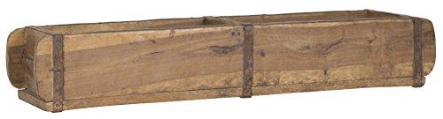 Alte Ziegelform 57x15x9,5 cm - Zweikammer - Vintage Holzkiste mit Metallbeschlägen - Echte,...