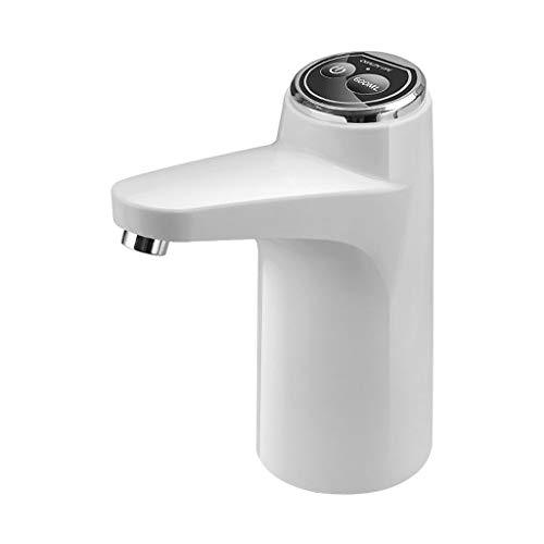 MagiDeal Dispensador de agua, bomba de agua potable eléctrica dispensador de agua portátil bomba de botella de agua de carga USB Universal - Blanco