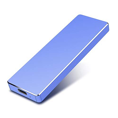PAATE Disco Duro Externo Portátil 1TB, Type C USB3.1 SATA HDD Almacenamiento para PC, Mac, Desktop, Laptop, MacBook, Chromebook, Xbox One (1tb, Azul)