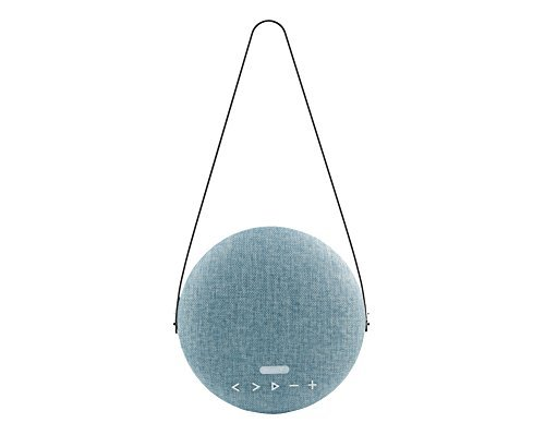Sardine Portable Bluetooth Speaker Fabric Wireless Bluetooth 4.2 Speakers with 12W HD Sound,Rotation Control,12Hours Playtime,Handsfree for iPhone, iPad,Samsung,Tablet,Echo Dot-Rhythm (Blue)