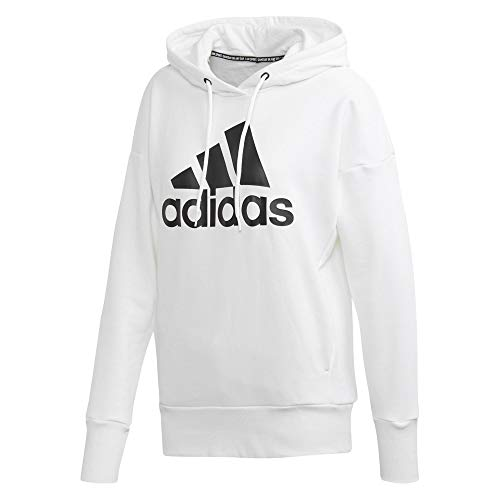 adidas Damen Sweatshirt W BOS Long HD, White/Black, M, FM1045