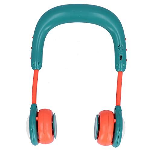 SUCIE Ventilador de Banda para el Cuello, Ventilador para el Cuello Mini Ventilador para Colgar en el Cuello, USB Recargable para Oficina, Deportes, Viajes, Lectura(Green, Pisa Leaning Tower Type)