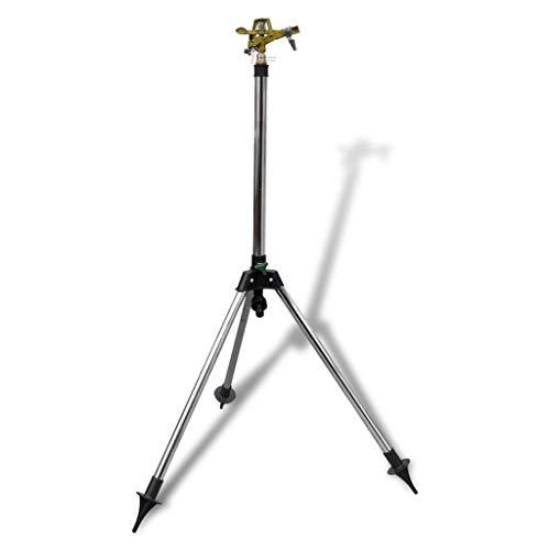 vidaXL Kreisregner Impulsregner Rasensprenger Sprinkler Gartenregner Teleskop